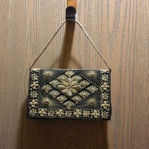Beautiful Black Velvet Embroidered purse